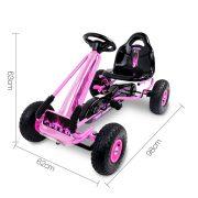 Kids Pedal Go Kart - Pink
